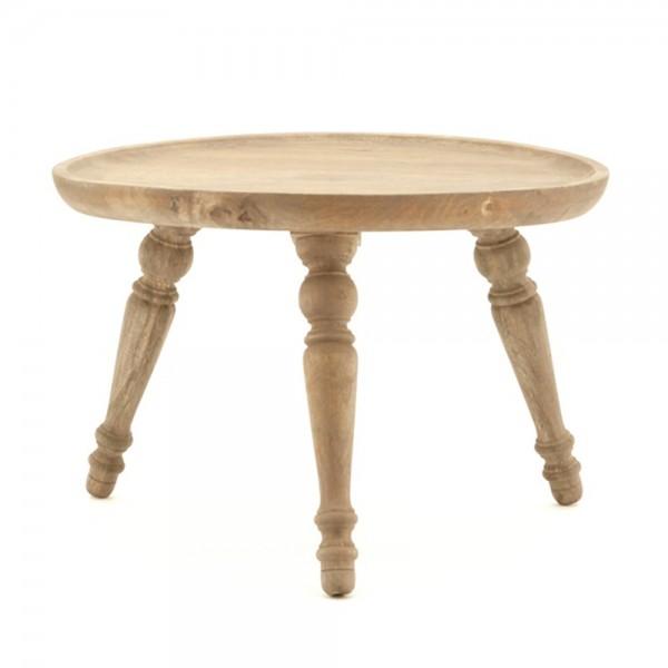Beistelltisch ABU Ø 60 cm Tisch Kaffeetisch Anstelltisch Mango natur Massivholz