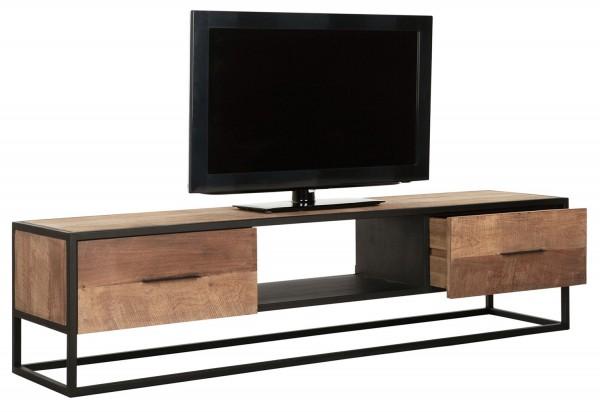 Must Living TV Möbel Elemental 160 cm Teakholz Metall