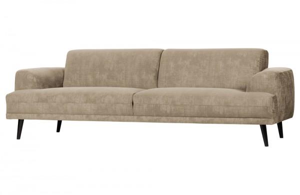 Sofa BRUSH 3-Sitzer Samt 243 cm champagner beige Couch vtwonen