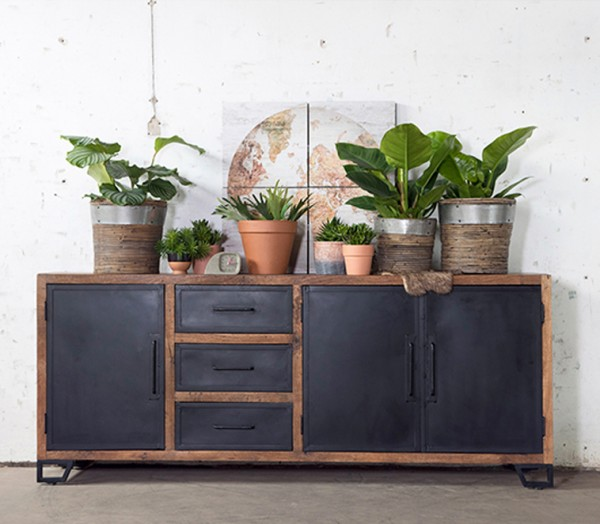 Industrie Design Kommode 220 Cm Sideboard Alberto Dressoir