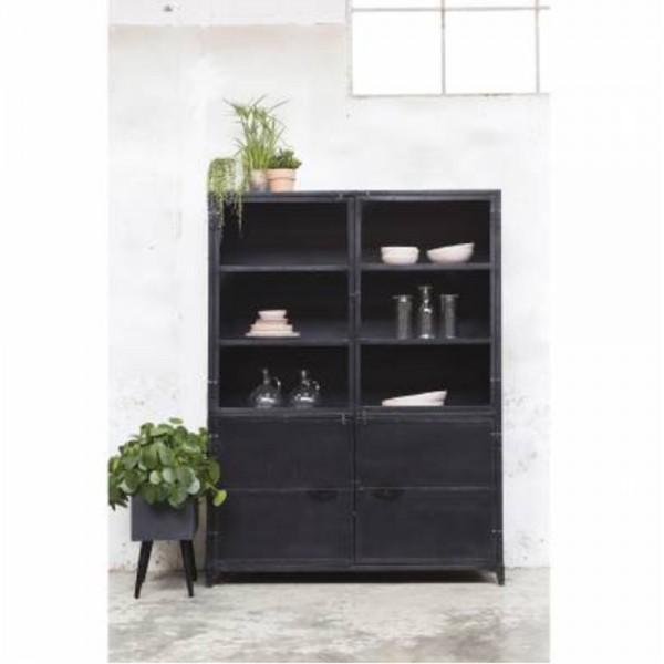 industrie design vitrinenschrank marcia vitrine schrank metall vintage schwarz new maison. Black Bedroom Furniture Sets. Home Design Ideas