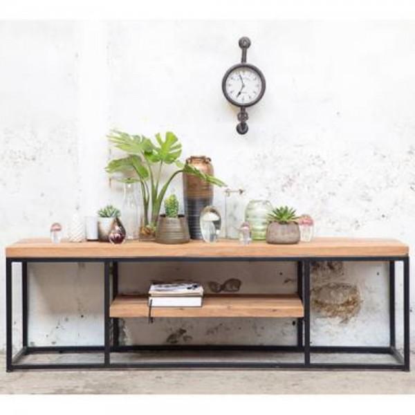 industrie design tv m bel jack lux m tisch fernseh kommode rack massivholz metall vintage. Black Bedroom Furniture Sets. Home Design Ideas