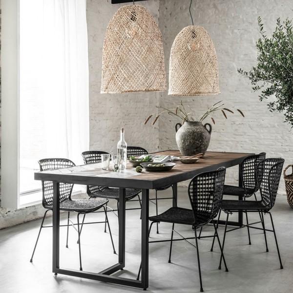 DTP Home Esstisch Criss Cross 160 x 90 cm Teakholz Metall