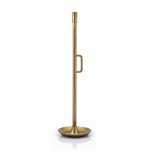 Kerzenständer Wick H 60 cm Kerzenleuchter Kerzen Metall Messing Shabby Landhausstil
