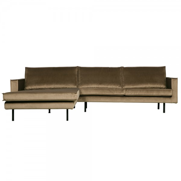 BePureHome Ecksofa Rodeo Samt Recamiere Links