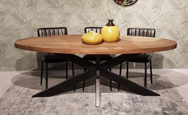 Esstisch Sturdy oval 210 x 100 cm Mangoholz