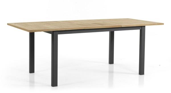 Teak Gartentisch ausziehbar LYON 150 / 210 cm schwarz