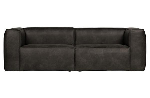 3,5 Sitzer Sofa Bean schwarz Lounge Couch recyceltes Leder Loungesofa Couchgarnitur