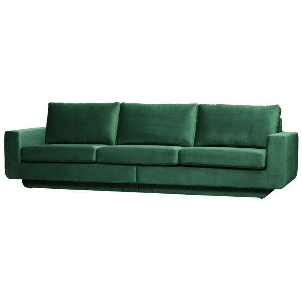 be pure 3 Sitzer Sofa Fame 282 cm Samt Velvet grün Couch