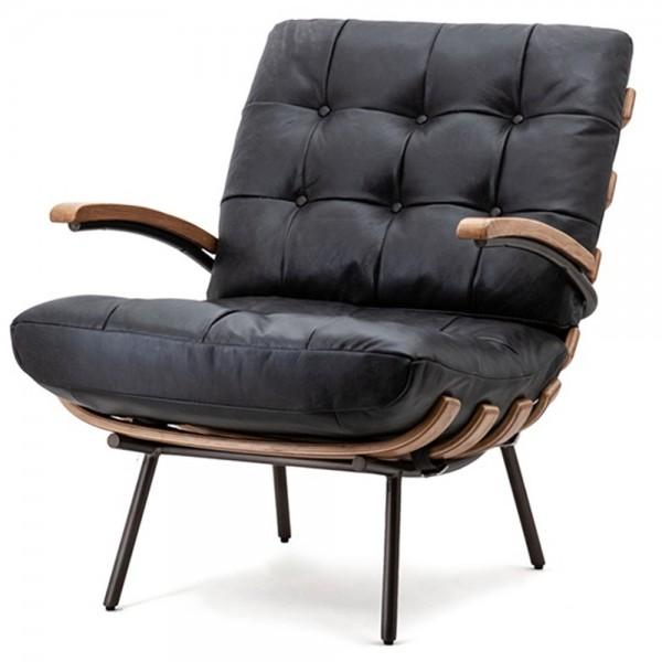 Ledersessel schwarz Bastiaan Leder Sessel