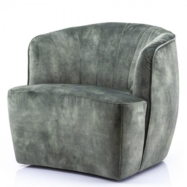 Lounge Chair Michelle Samt moosgrün Sessel