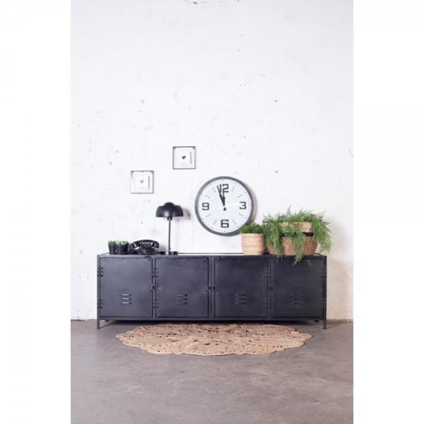 TV Möbel Fabian 190 cm Tisch Fernseh Board TV-Board Lowboard Metall schwarz