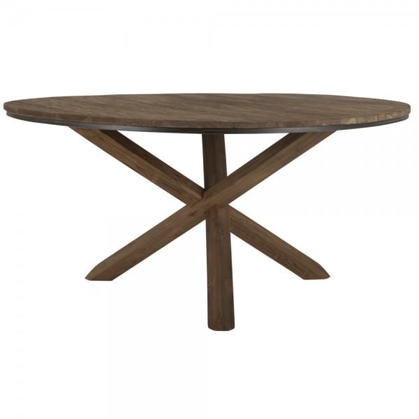 Esstisch Fendy rund Ø 160 cm Teakholz Esszimmertisch Dinnertisch Holztisch