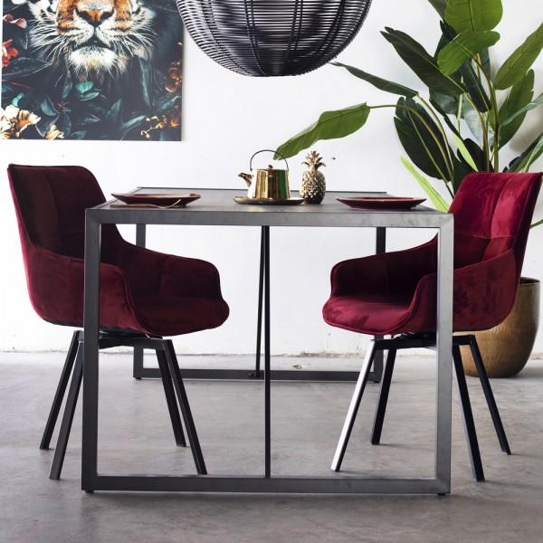 Industrie Esstisch Star 200 x 90 cm Esszimmertisch Tisch Akazie Metall schwarz