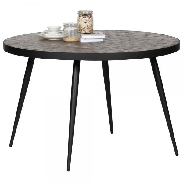Esstisch VIC Ø 120 cm Teakholz Metall Esszimmertisch Tisch Dinnertisch