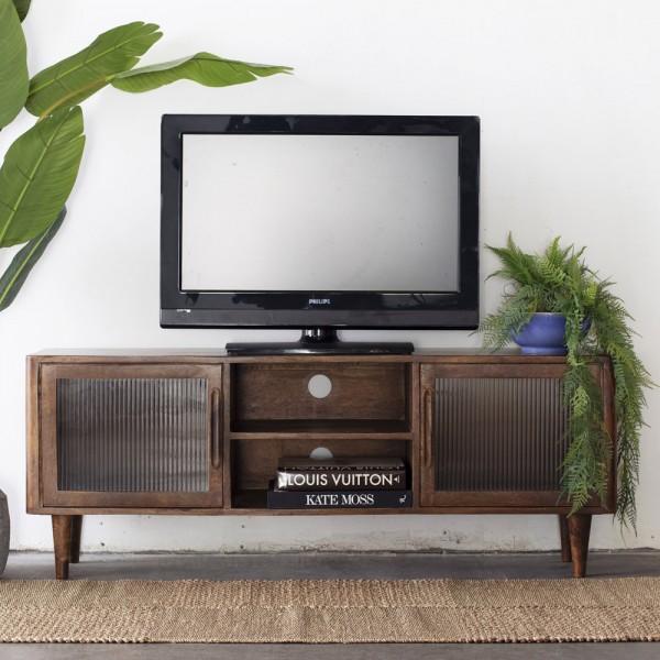 TV Lowboard Jop B 145 cm Holz braun TV Möbel