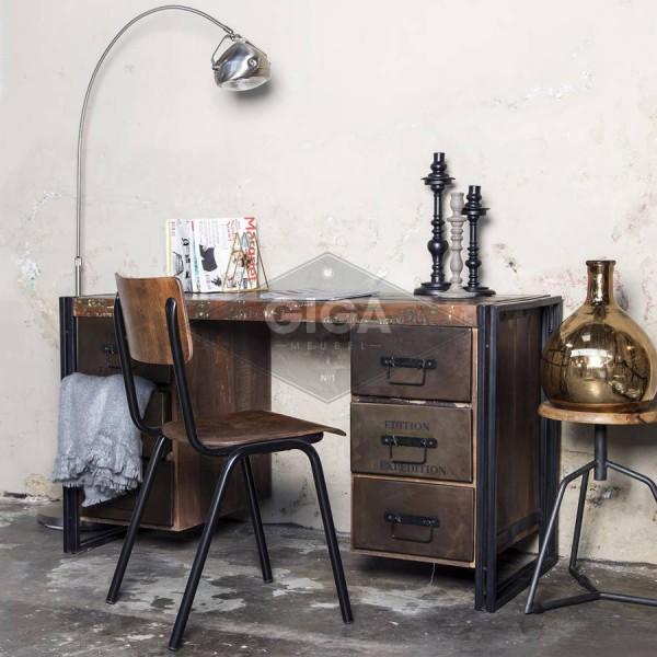 Industriedesign Sekretär Metall Tisch Schreibtisch Schreibkommode