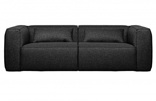 WOOOD 3,5 Sitzer Sofa Bean dunkelgrau