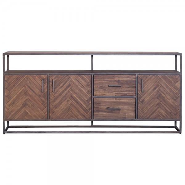 Kommode Hudson 200 cm Sideboard Akazie braun