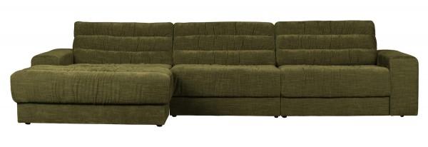 BePureHome Ecksofa Date vintage grün Chaiselongue links