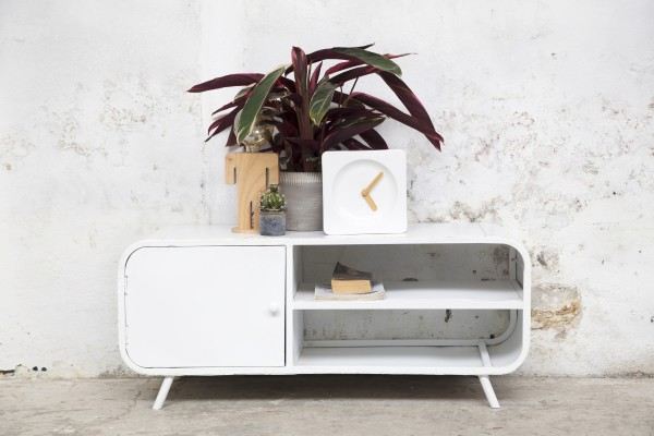 Industrie TV Möbel Lowboard Retro 120 cm Metall weiß
