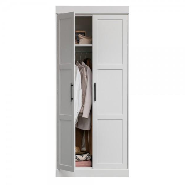 Kleiderschrank Brynn weiß 90 cm Schrank Holz Kiefer