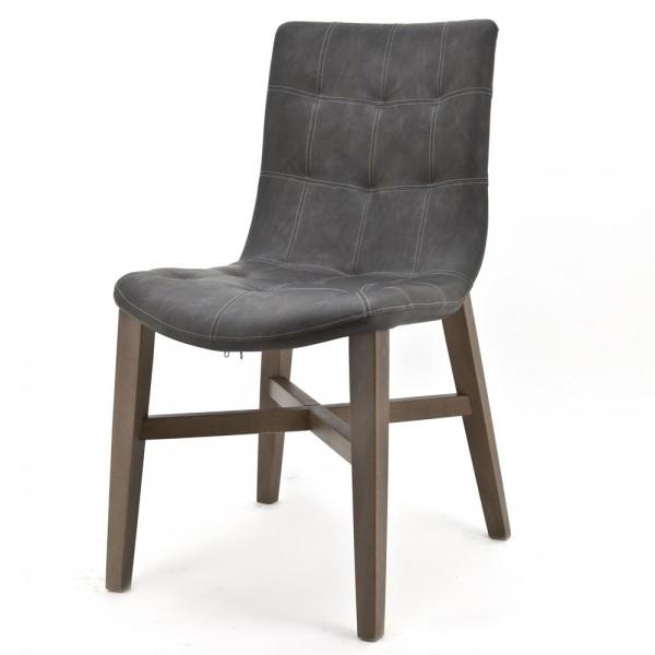 Vintage Stuhl Neba Anthrazit Polsterstuhl Sessel Esszimmer