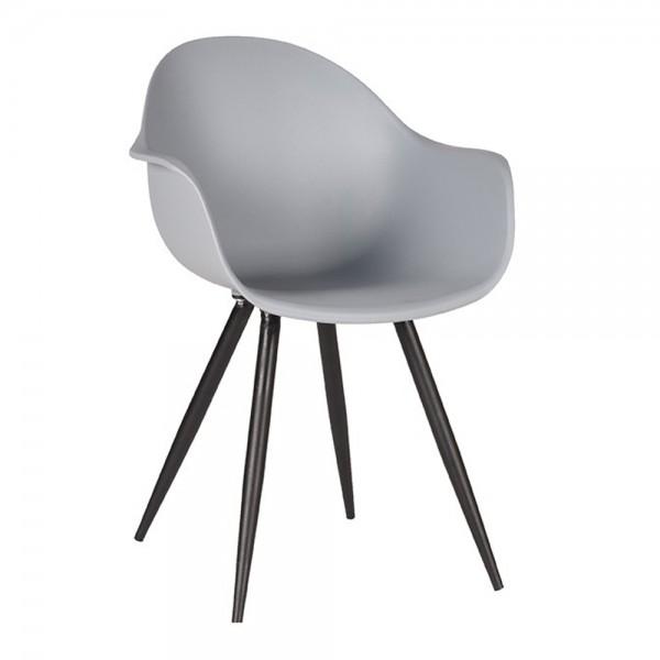 Schalenstuhl Luca grau Armlehne Stuhl Esszimmerstuhl Esszimmer Armlehnstuhl Stühle