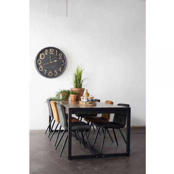 Esstisch INDUSTRIAL 220 x 100 cm recyceltes Holz Metall Tisch
