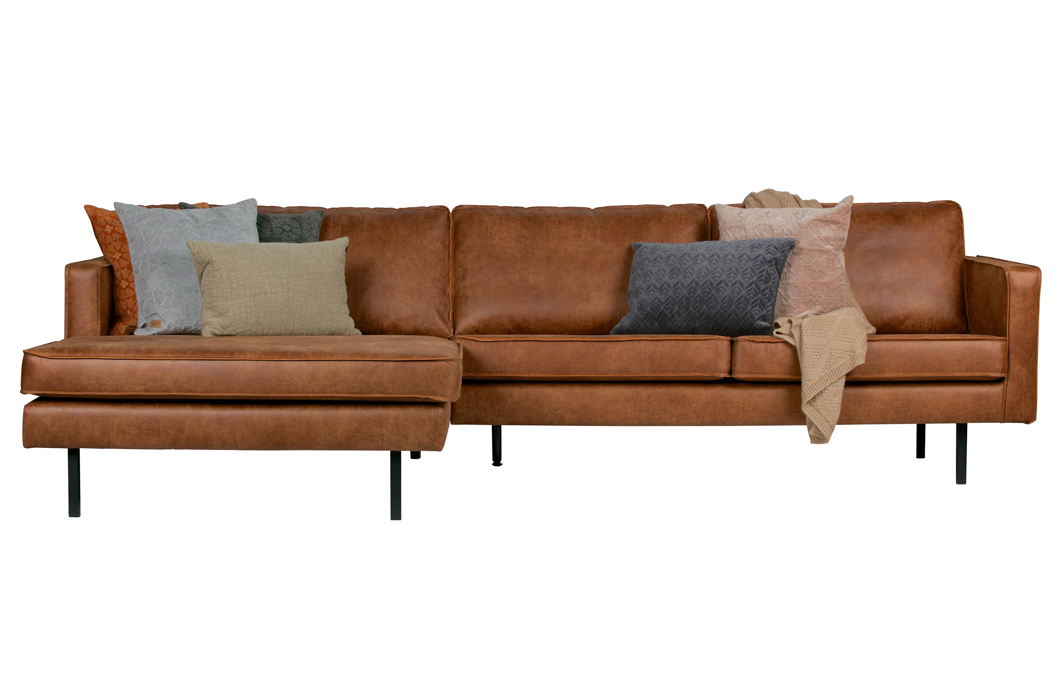 Eckgarnitur Rodeo Leder Cognac Couch Sofa Ecksofa Ledercouch