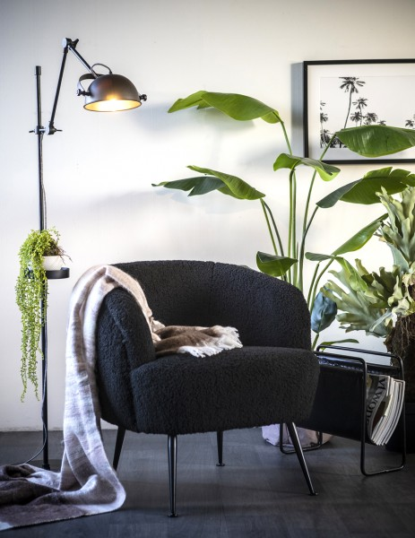 BY-BOO Lounge Club Sessel Babe schwarz Relaxsessel