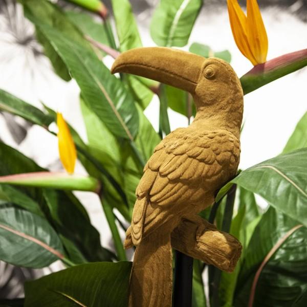 Deko Skulptur Tischdeko Athos ocker Papagei Vogel Standfigur Figur Statue Objekt