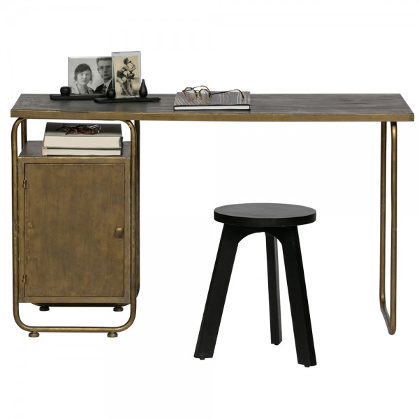 Schreibtisch Veteran 130 x 50 cm Metall Messing
