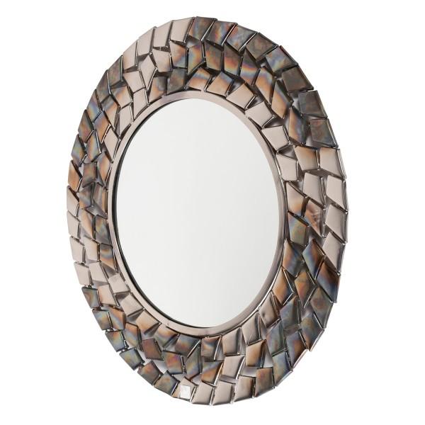 Wandspiegel Mebble Ø 65 cm Metallrahmen antik nickel Spiegel Dekospiegel