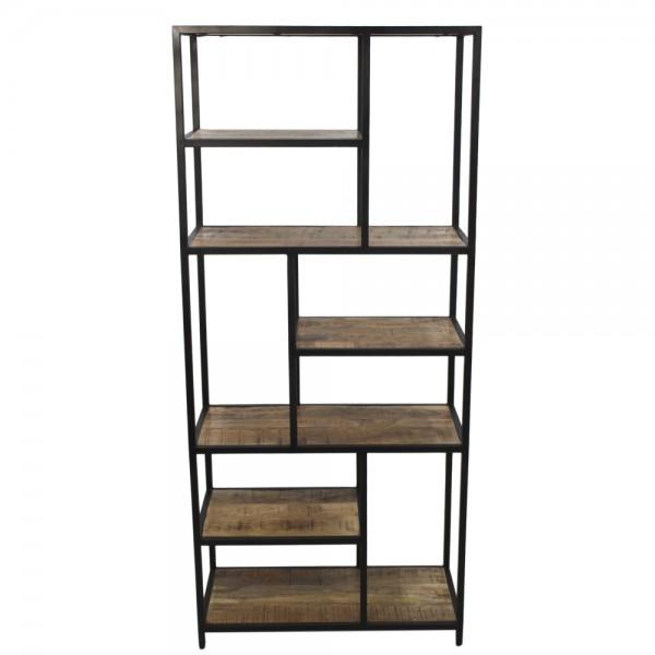 Industrie Regal Levels H 180 cm Mango Massivholz Metall Bücherregal Wandregal