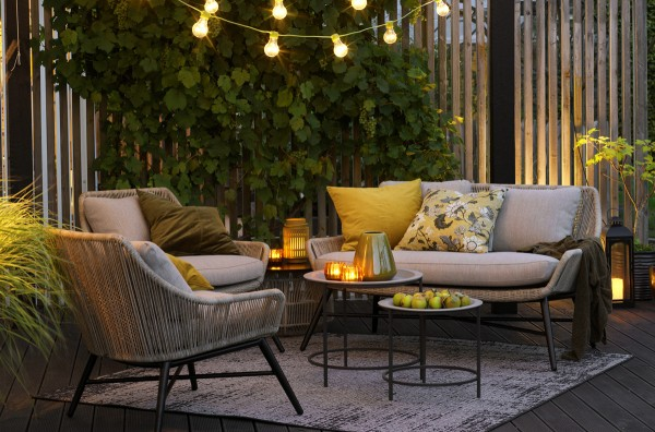 Sitzgruppe Gartenmöbel Lounge Garnitur PEMBROKE Kunstrattan