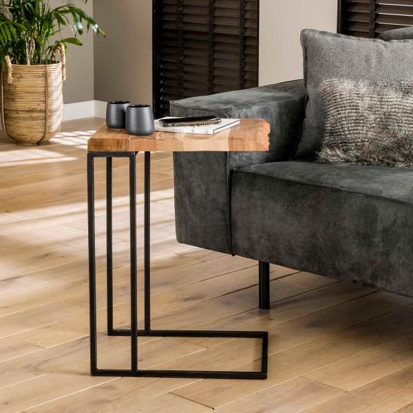Laptoptisch Beistelltisch Ede H 60 cm Akazie Holz