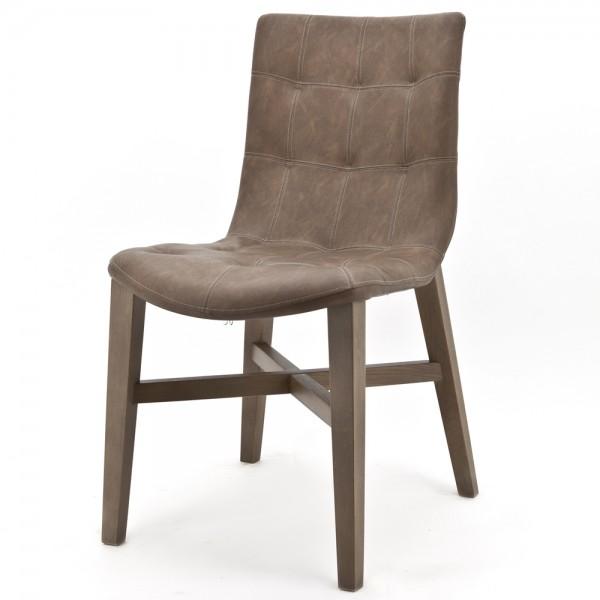 Design Stuhl NEBA braun Polsterstuhl