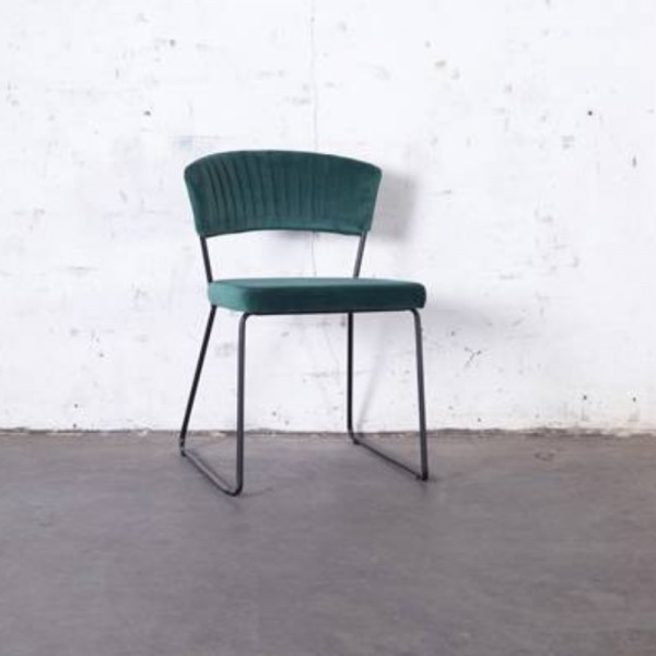 2´er Set Esszimmerstuhl Grace Velvet Samt grün Stuhl