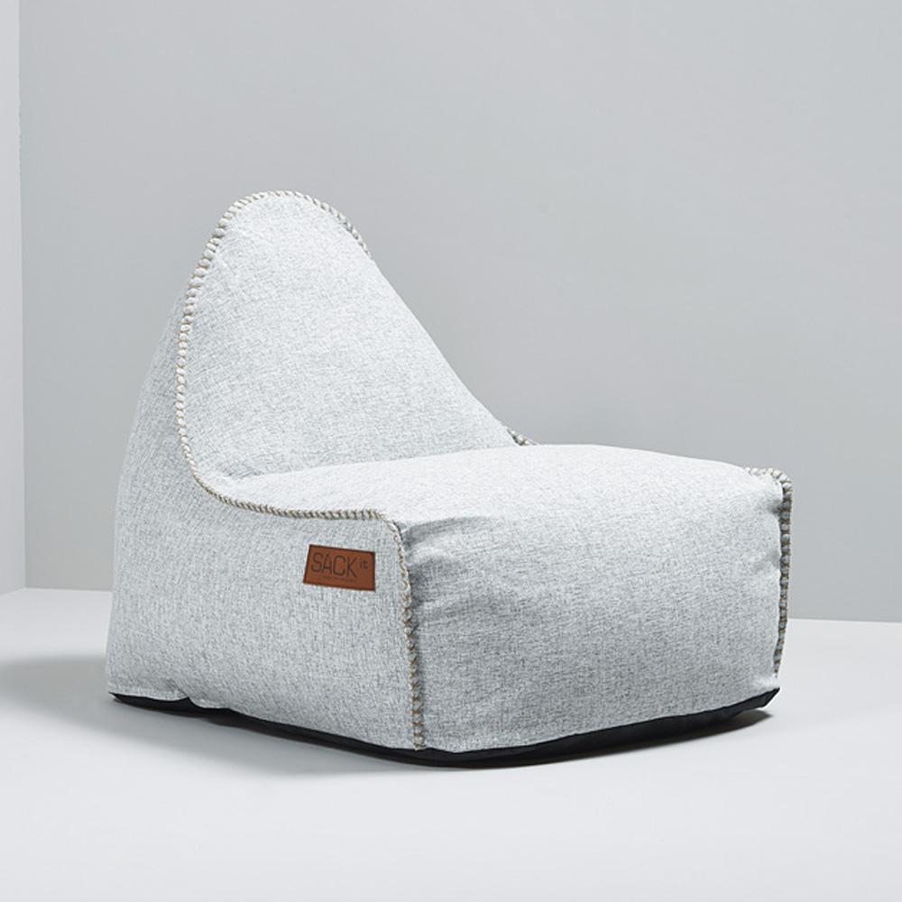 garten sitzsack cobana f r drinnen und drau en retro weiss. Black Bedroom Furniture Sets. Home Design Ideas