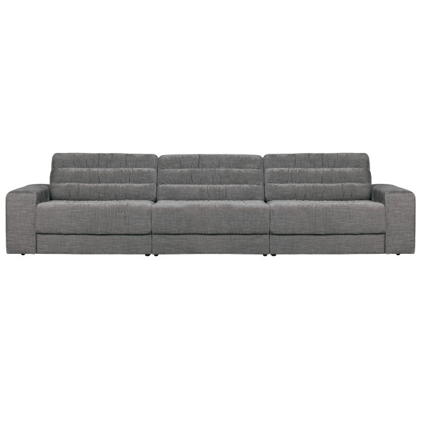 BePureHome 3 Sitzer Sofa Date 316 cm vintage Samt mausgrau Couch