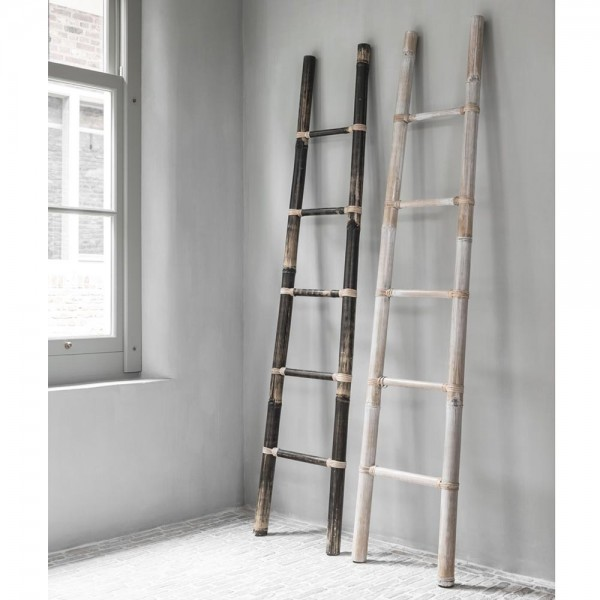 MUST HAVE Deko Leiter Bamboo 200 cm Teak blackwash