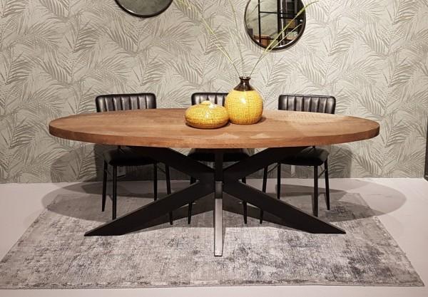 Esstisch Sturdy oval 240 x 110 cm Mango Holz
