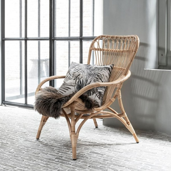 MUST Living Loungesessel Sessel Relaxsessel Rattan natur