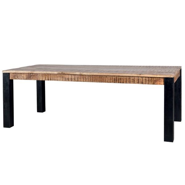 Industrial Esstisch Akazie massiv Holztisch Dinnertisch Tisch Esszimmertisch