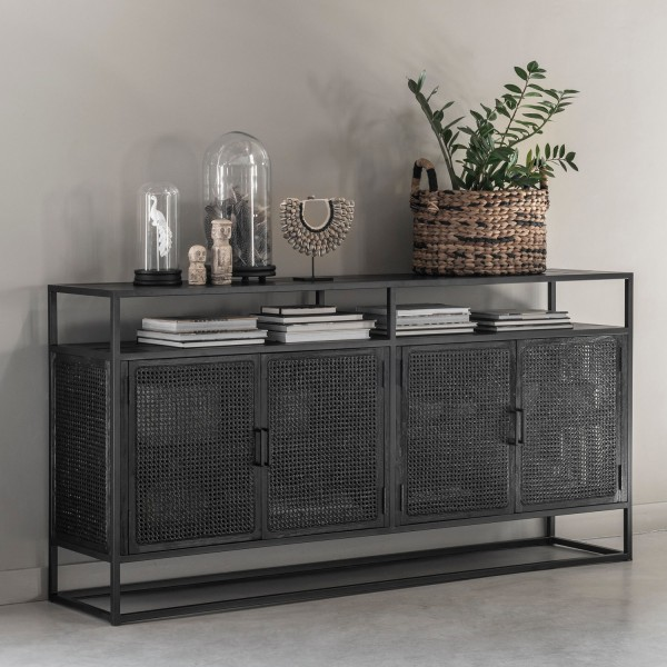 MUST LIVING Sideboard Spiderman 180 cm schwarz Kommode