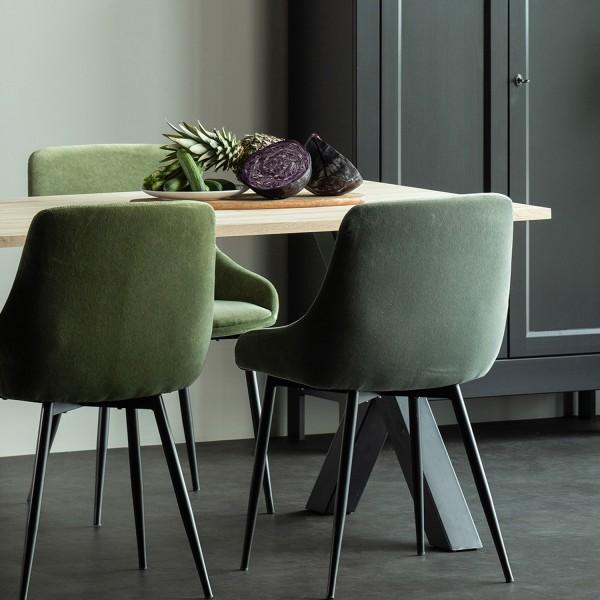 Esstisch Tablo 160 x 90 cm Eiche Metall X-Beine Tisch