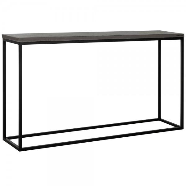 Konsolentisch Mont BLANK 140 x 35 cm Basalt Beton Metall Tisch Beistelltisch