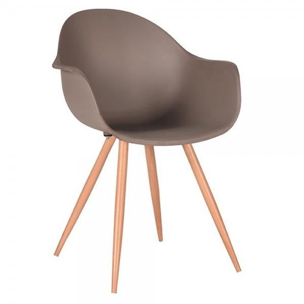 Schalenstuhl Parma coffee Armlehne Stuhl Esszimmerstuhl Esszimmer Armlehnstuhl Stühle