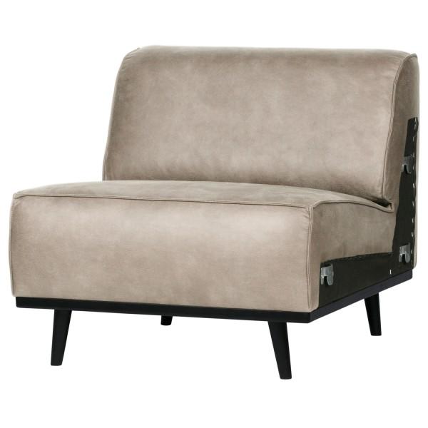 BePureHome 1 Sitzer Sessel Element Erweiterung Statement Elefantenhaut grau